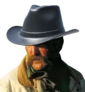 Cowboy Hard Hat OccuNomix Vulcan Black